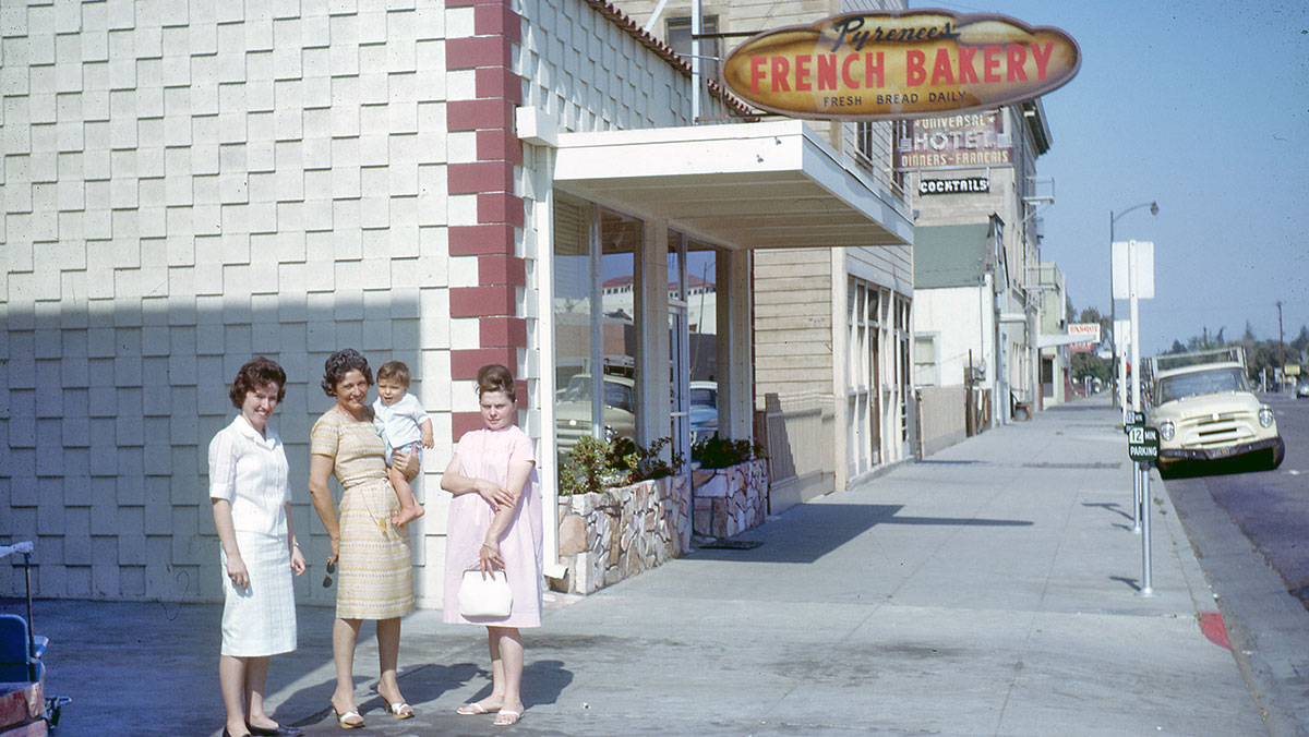 Pyrenees French Bakery store front 1963